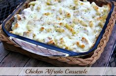 Chicken Alfredo Casserole - Awesome made it this past weekend. Big hit with everyone.