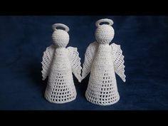 Jak zrobić anioła 3D szydełkiem - Wzór 3 - YouTube