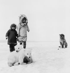 2000  lightyearsfromhome   JEAN-PHILIPPE CHARBONNIER   1921-2004   UN CHIEN    DEUX OURSONS, WAINWRIGHT, ALASKA, 1955
