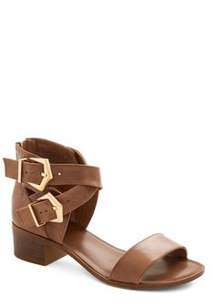 Pardon My French Sandal by Seychelles - Low, Leather, Solid, Buckles, Daytime Party, Weekend, Best, Chunky heel, Strappy, Brown