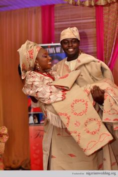 Nigerian Traditional Engagement Wedding Colors: Aso-Oke Color Matching Ideas For Couples |