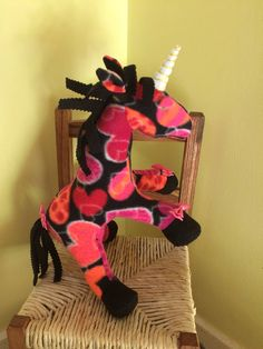 A personal favourite from my Etsy shop https://www.etsy.com/uk/listing/523619848/black-pink-unicorn-soft-toy-unicorn