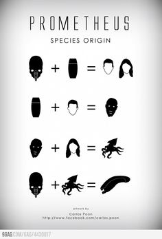 Is it super nerdy that I had already done this math 10 minutes after seeing the movie?  Prometheus: Species Origin
