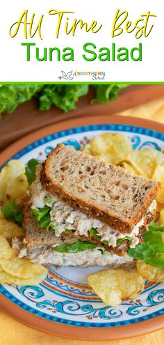 Make this quick and easy recipe for the All-Time Best Tuna Salad! Flakey tuna mixed with perfectly boiled eggs, crunchy Tuna Sandwich Recipes, Best Tuna Salad Recipe, Tuna Fish Recipes, Seafood Recipes, Cooking Recipes, Salad Sandwich, Best Tuna Wrap Recipe, Southern Tuna Salad Recipe, Tuna Salad Recipes