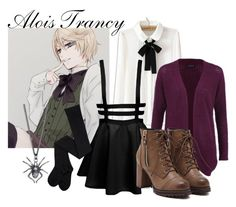 """Alois Trancy"" by katwhisky ❤ liked on Polyvore featuring ONLY, Yasmin Everley, anime, BlackButler, Alois and Kuroshitsuji"