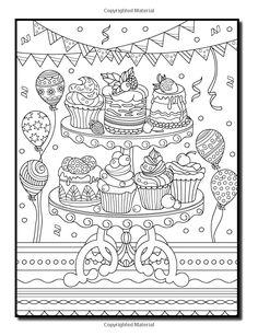 Amazon.com: вкусные Десерты: книжка-Раскраска для взрослых с причудливым дизайном торта, красивые узоры мучными кондитерскими изделиями, Хлебобулочными и красивых сцен, для расслабления и снятия стресса (9781542406505): Нефритовая лето, взрослый книги-раскраски: книги