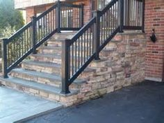 another option as I try to figure out rails for the stairs. concrete front stairs - - Yahoo Image Search Results