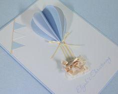 Omg love!! Balloon Birthday Themes, First Communion Cards, Balloon Invitation, Christening Invitations, Baby Christening, Baby Shower Invitations For Boys, Baby Shower Balloons, Baby Cards, Air Balloon