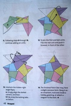 I had several requests for how to fold the star in the previous post. I wanted to take photographs of each step, but I think it's easier for me to just photograph the direction pages and put …