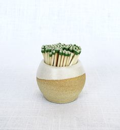 Stoneware Match Striker --- i love keeping these match strikers in the bathroom next to a nice candle