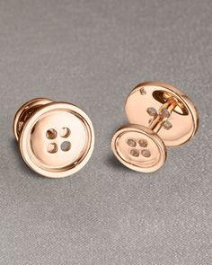 Button cufflinks by Robin Rotenier at Neiman Marcus.