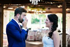 Tearing up at the first look // Mesmerizing Moments Photography