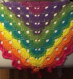 Virus Shawl crochet shawl crochet wrap prayer shawl   Etsy Crochet Shirt, Hand Crochet, My Baby Girl, Rainbow Promise, Prayer Shawl Patterns, Crochet Prayer Shawls, Ombre Yarn, Knitting For Charity, Photo Prop