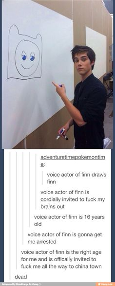 Hot damn voice actor of Finn. I don't even like adventure time at all. Funny Tumblr Posts, My Tumblr, Funny Cute, The Funny, Gabe The Dog, Funny Pins, Funny Memes, Funny Stuff, Abenteuerzeit Mit Finn Und Jake