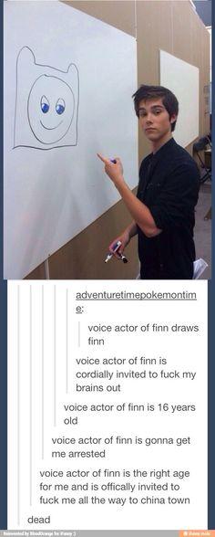 Voice actor of finn kinda looks like Dylan O'Brien