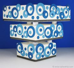"""I am in love with this cake - the colors, shapes, etc. even if it is """"abstract."""" I must make this!!!"""