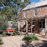 Barn Conversion Exterior, Outdoor Tub, Recycled Brick, Cottage Living Rooms, Lean To, Red Bricks, Grid, Pergola, Farmhouse