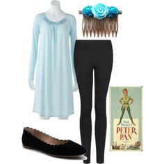 """Wendy - Peter Pan"" costume theme by thiszthegirlz on Polyvore"