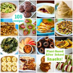 105 Recipes for Plant-Based After School Snacks #vegan #backtoschool #kids