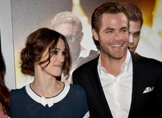 Actors Keira Knightley and Chris Pine arrivesat the premiere of Paramount Pictures' 'Jack Ryan Shadow Recruit' at TCL Chinese Theatre on January 15...