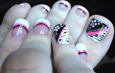 Diseños para uñas de los pies, diseño para uñas delos pies rayas. Clic Follow, Unete al CLUB #uñasdecoradas #instanails #uñasbonitas