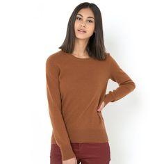 Sweter z okrągłym dekoltem, wełna kaszmirowa 100%. R essentiel