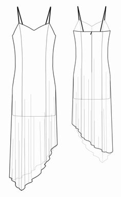 Two-layer Dress - Sewing Pattern #5527 - $2.49 (Enter your measurements for a custom-size pattern!)