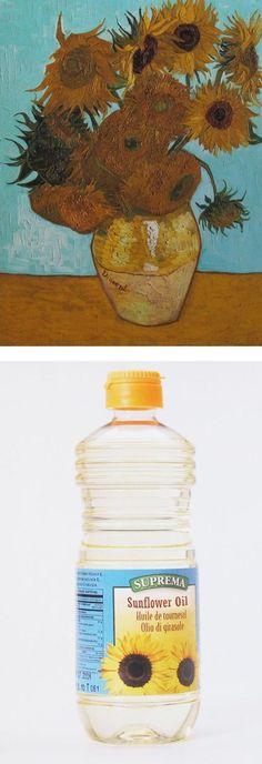 "Ursus Wehrli, Tidying Up Art. Vincent van Gogh ""Sunflowers"" http://www.demilked.com/tidying-up-art-ursus-wehrli/"