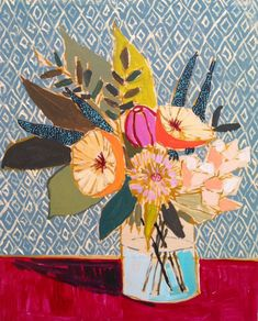 Lulie Wallace's  colorful abstract take on floral arrangements. I would love one of these paintings hanging on my wall. Or better yet, y...