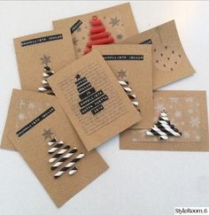 Myndaniðurstaða fyrir joulukortti ideoita Christmas Gift Wrapping, Christmas Crafts For Kids, Xmas Crafts, Christmas Photos, Christmas Projects, Simple Christmas, Christmas Diy, Christmas Cards, Gifts For Office
