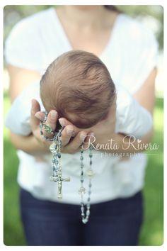 Baptism session, baptism photo idea