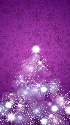 Purple Christmas, Christmas Art, Winter Christmas, Xmas, Holiday Wallpaper, Winter Wallpaper, Tree Wallpaper, Christmas Tree Background, Christmas Pictures