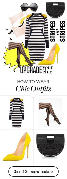Designer Clothes, Shoes & Bags for Women Night Out Outfit, Karen Millen, Chic Outfits, Stripes, Shoe Bag, Polyvore, How To Wear, Stuff To Buy, Shopping