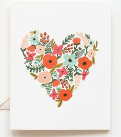 floral heart card from rifle paper co.