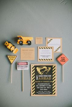 Construction Theme 1st Birthday Party