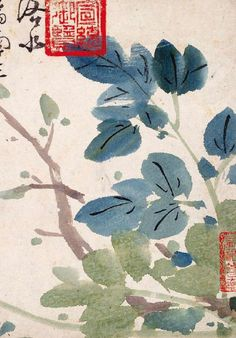 Korean art - we love the way the paper absorbs the ink here in a typical ink & wash style