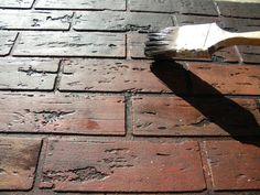 Impressive technique to make faux bricks.