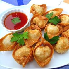 These vegetarian appetizers are a delightful nibble at parties or make great additions to soups.