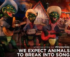 When we show our #DisneySide, we expect animals to break into song. #WaltDisneyWorld #vacation