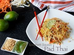 A fun and healthy spin on the classic Pad Thai, this recipe features spaghetti squash and is easy to make and beyond delicious!