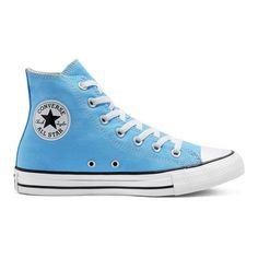 Blue Converse High Tops, Light Blue Converse, Colored Converse, High Top Vans, High Top Sneakers, Outfits With Converse, Women's Converse, White Converse, Baby Blue Converse