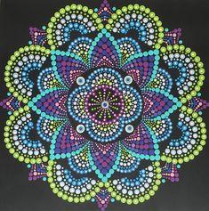 Mandala, Mandala painting, Dot mandala, Mandala Art, meditation mandala, unique art, unique gift, colorful art, sacred geometry, BoHo,