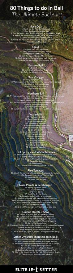 80 Things to do in Bali: the Ultimate Bucketlist 80 Dinge, die man in Bali unternehmen kann: Die ultimative Bucketlist – Elite Jetsetter Bali Travel Guide, Asia Travel, Travel Guides, Travel Tips, Beach Travel, Travel Hacks, Japan Travel, Luxury Travel, Cool Places To Visit