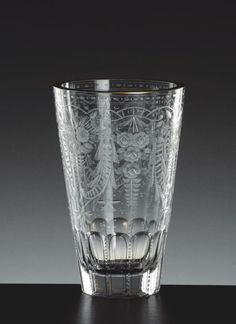 Purity 626/4400, hand cut, engraved and gilded vase, motif Maharani » Moser glassworks - Luxury Bohemian Crystal Glass