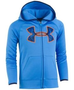 Under Armour Graphic-Print Front-Zip Hoodie, Toddler & Little Boys (2T-7) - Blue 4