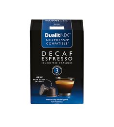 Dualit NX Coffee Capsule – Decaf Espresso Central and South American Arabica… Nespresso, Coffee Cups, Tea, American, Strength, Tableware, Berry, Caramel, Smooth