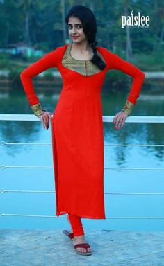 Red Salwar Pattern, Indian Wear, Indian Style, Indian Fashion, Womens Fashion, Floor Length Dresses, Neck Pattern, Kurtis, Designer Dresses