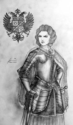 This Drawing is Outdated - Please see the Updated version in the Gallery Folder of Women Warriors of Historically Wrong Sketch Series: Medieval Revisited See: A sketch of Steppe Female warrior in t. Fantasy Rpg, Medieval Fantasy, Dark Fantasy, Goddess Warrior, Warrior Women, Types Of Armor, Character Art, Character Design, Historical Women