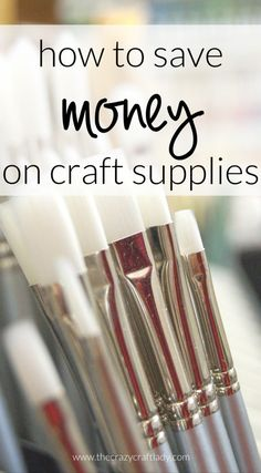 How to Save Money on Craft Supplies - where you NEED to be shopping if you are a DIYer or crafter to buy inexpensive craft supplies
