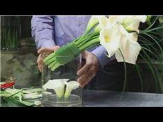 Discover how to arrange White Calla Lily Centerpiece